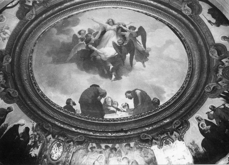 peintures murales : L'Assomption de la Vierge (coupole)