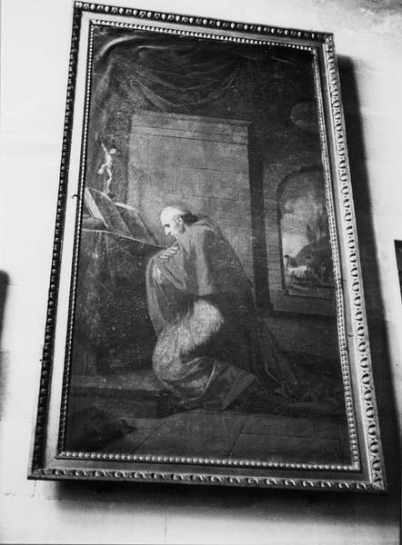 tableau : cardinal en prière