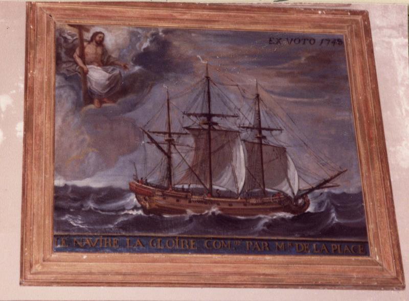 ex-voto, tableau : le navire la Gloire