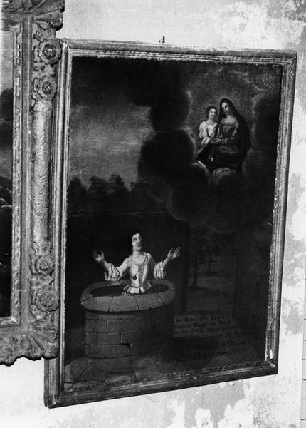 Ex-voto, tableau : Miracle de la demoiselle tombée dans le puits