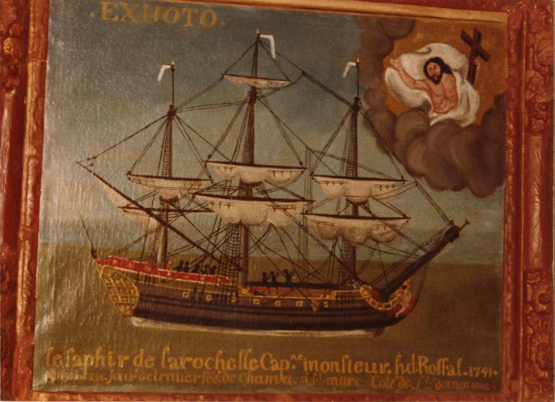 ex-voto, tableau : le saphir de la Rochelle