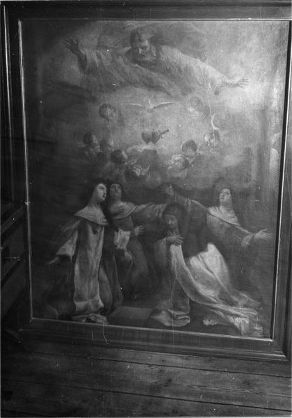 tableau : Dieu le Père apparaissant aux fondatrices de l'ordre de Notre-Dame de Charité