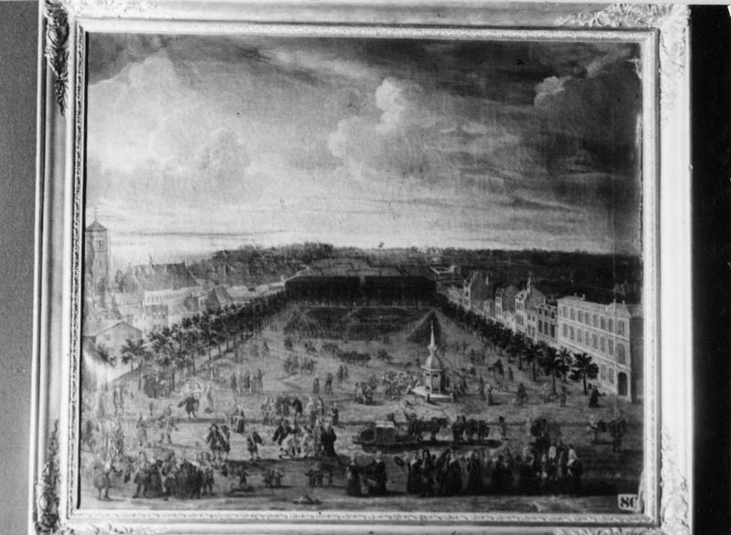 tableau : vue de la Rochelle pendant le siège de 1628