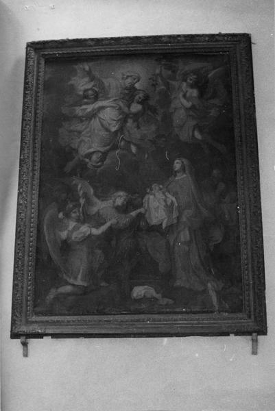 tableau, cadre : l'Enfant Jésus adoré par les anges