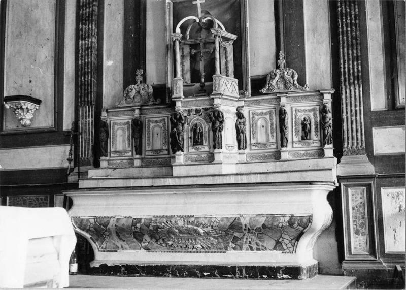autel, tabernacle, exposition (maître-autel, autel tombeau), vue d'ensemble