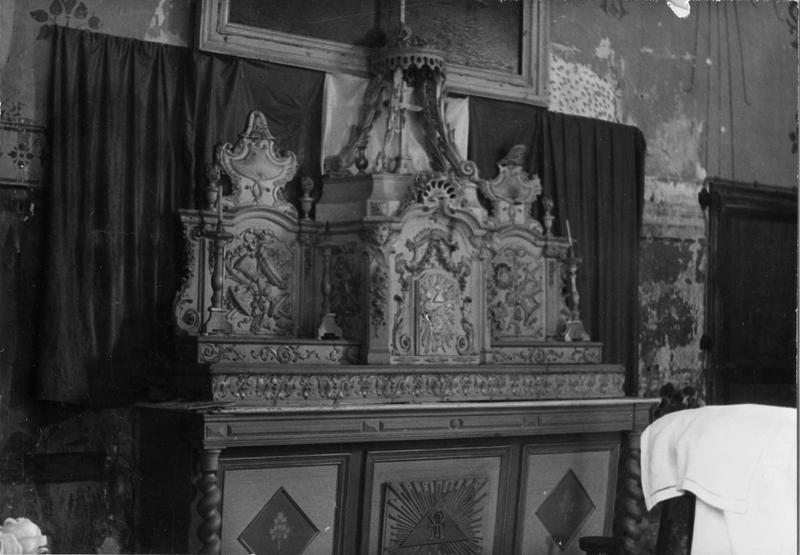 tabernacle à ailes, autel