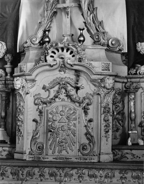 tabernacle, gradin, exposition, 4 chandeliers (tabernacle à ailes)