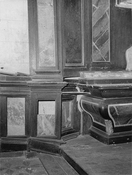autel, retable (autel secondaire de saint Joseph)