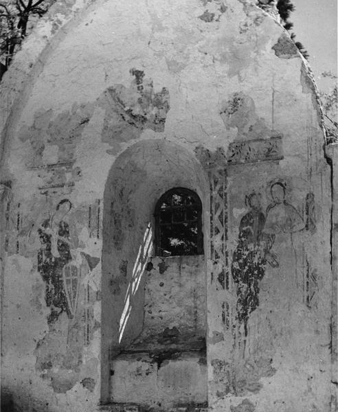 peinture monumentale : Saint Michel, le Baptême du Christ, le Christ en majesté