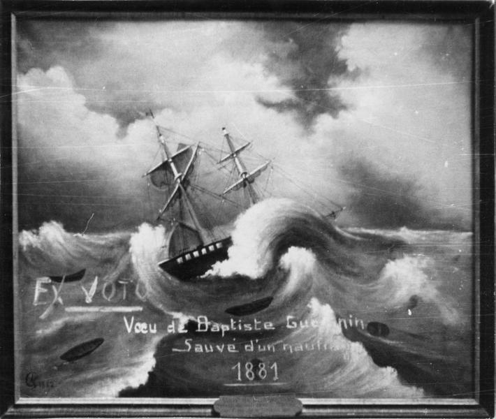 ex-voto, tableau, de Baptiste Guesnin