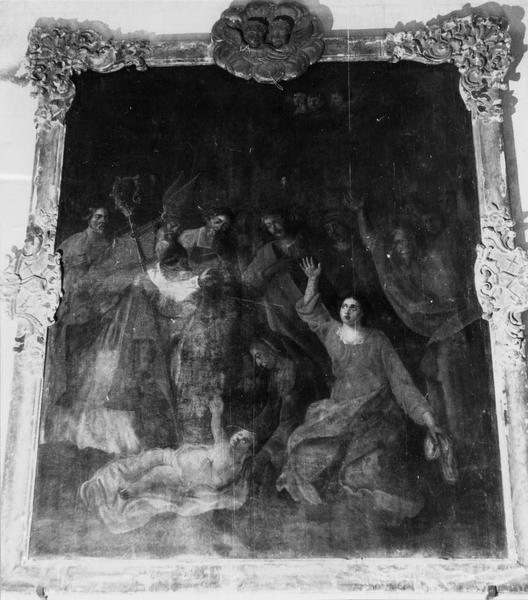 tableau : saint Martin ressuscitant le catéchumène de Ligugé