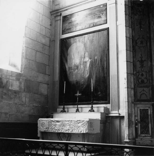 Retable, d'autel latéral avec le tableau représentant une sainte