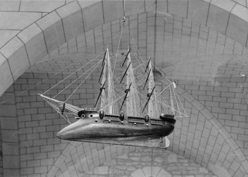 ex-voto, maquette (croiseur protégé), dit le Jean Bart