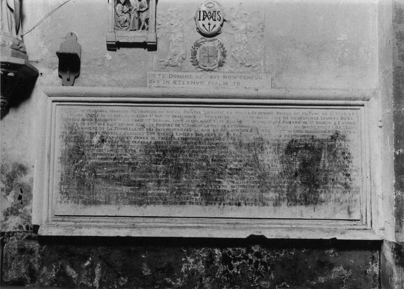 plaque funéraire de François du Breuil