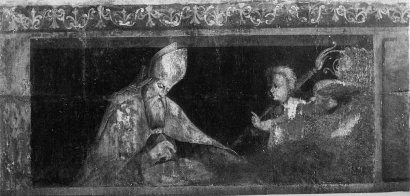 peinture murale : Evêque et un ange