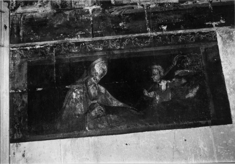 peinture monumentale : évêque et un ange