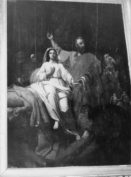 tableau : saint Pierre ressuscitant Tabitha