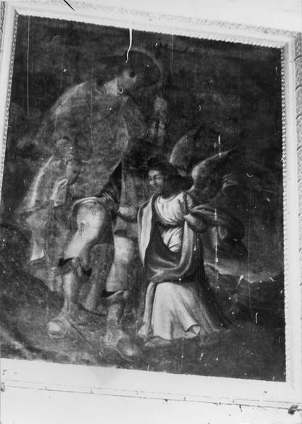Tableau : saint Roch soigné par l'ange