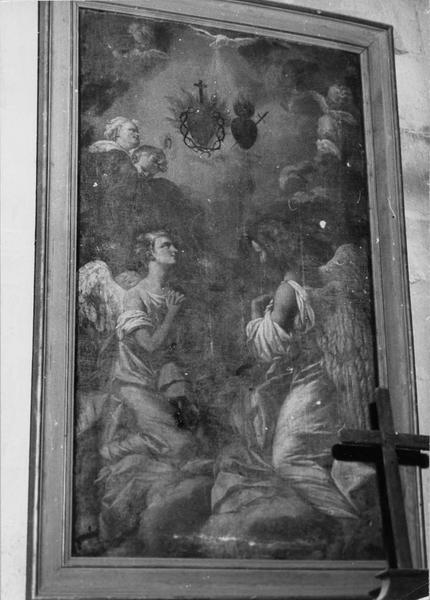 tableau : l'Adoration des Sacré-Coeur de Jésus et de Marie