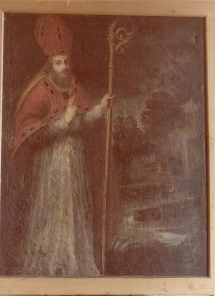 tableau : saint Arnoul de Metz en évêque bénissant