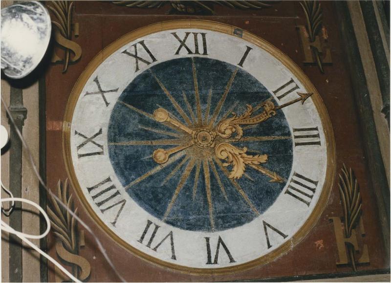 Horloge astronomique, détail