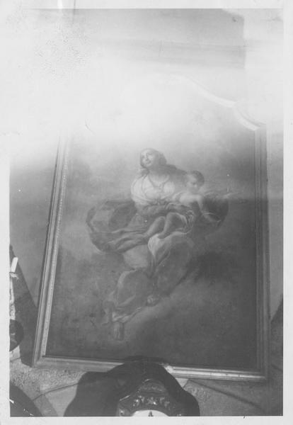 tableau : Vierge à l'enfant au rosaire, vue générale