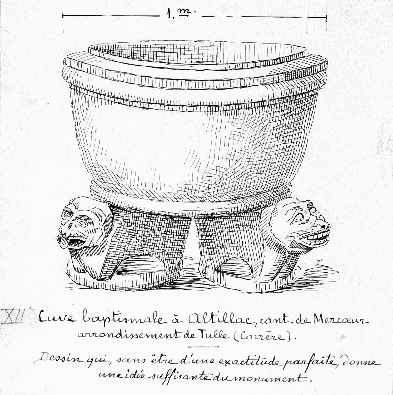 cuve baptismale (ensemble des fonts baptismaux)