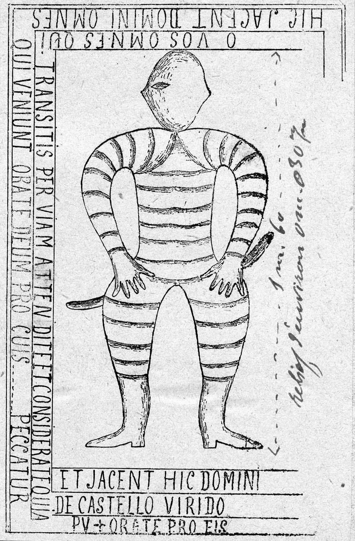 dalle funéraire (gisant) d'un seigneur de Châteauvert