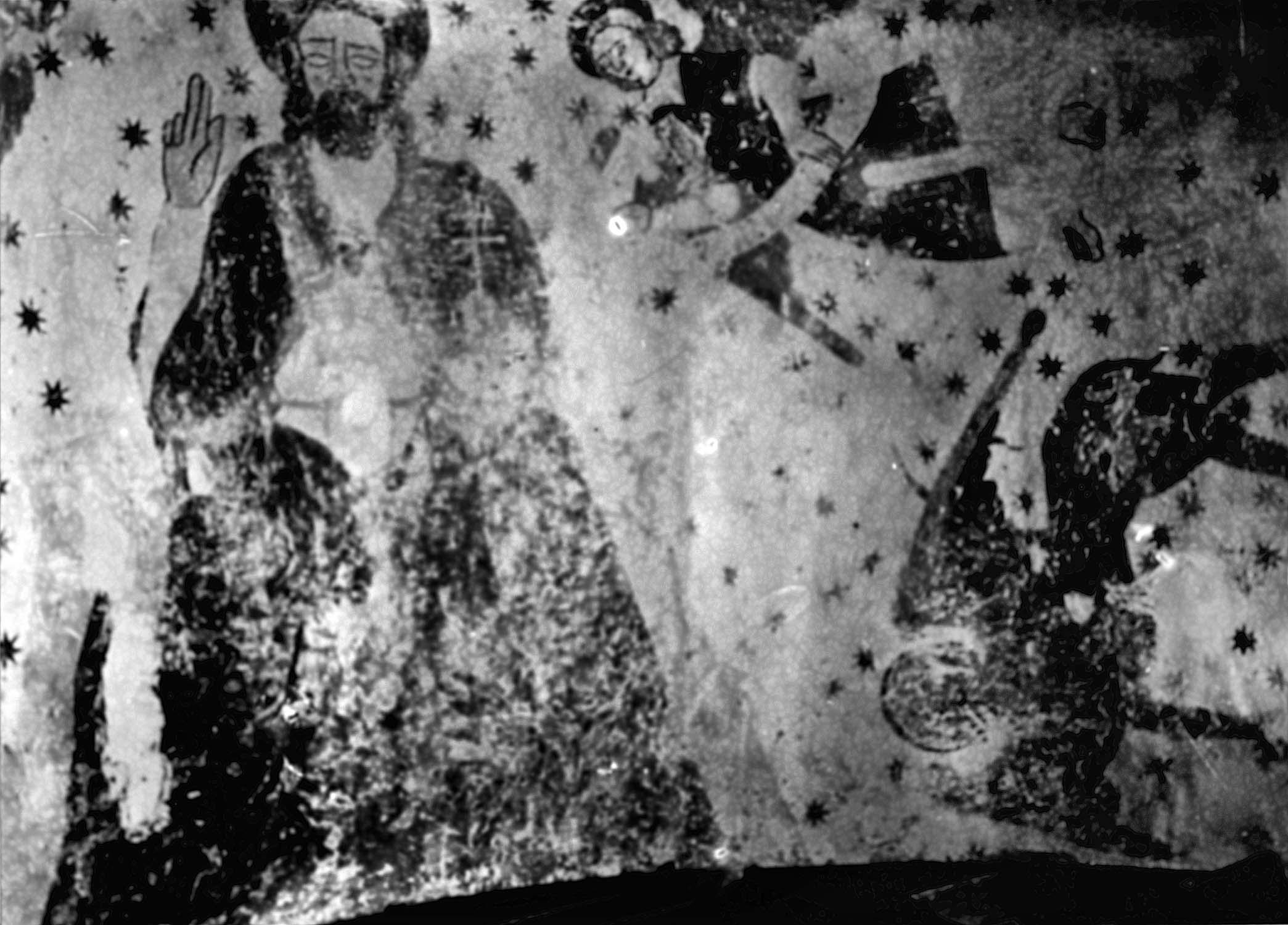 Peinture monumentale : le Christ en gloire entouré du Tétramorphe