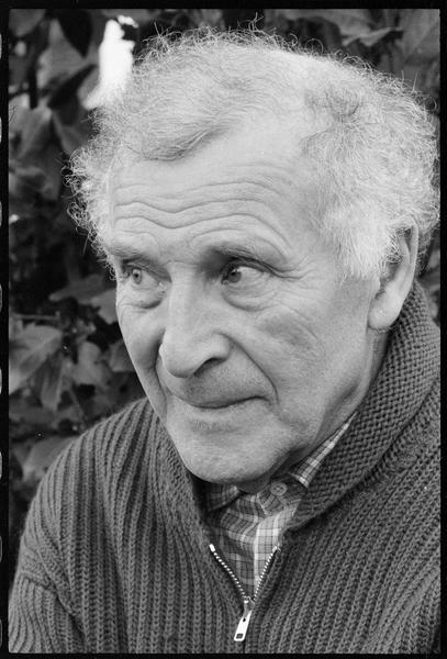 [Portrait de Marc Chagall dans son jardin]