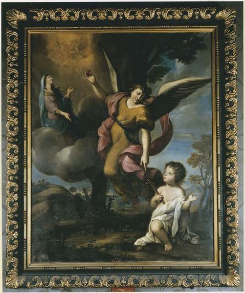 Tableau, cadre : L'Ange gardien, vue générale