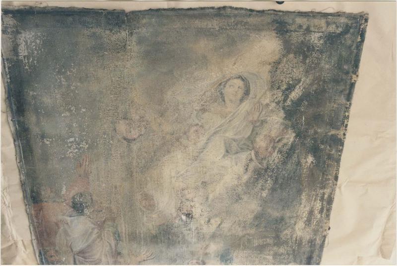 Tableau : Assomption de la Vierge (l'), vue partielle