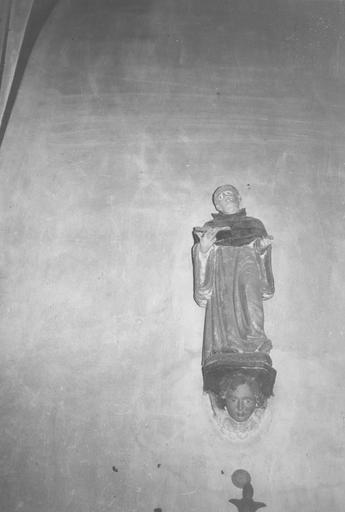Statue : saint Bernard, pierre polychrome