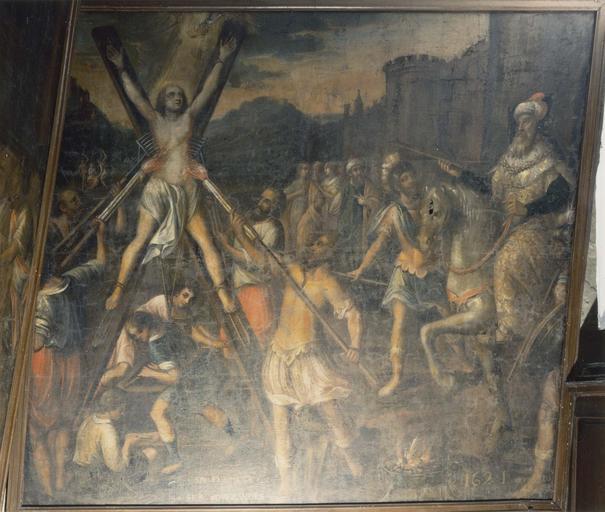 Pièce murale de la Tenture de la Vie de sainte Reine : Fermeté et souffrances (martyre de sainte Reine)
