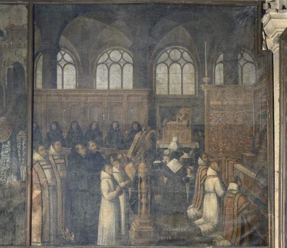 Pièce murale de la Tenture de la Vie de sainte Reine : Solennité de la Translation des reliques à Flavigny