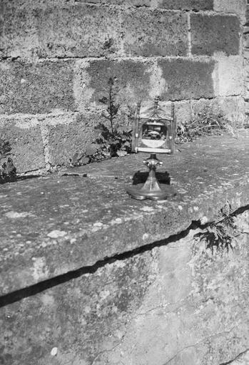 Reliquaire pédiculé de sainte Brigide, argent et cuivre
