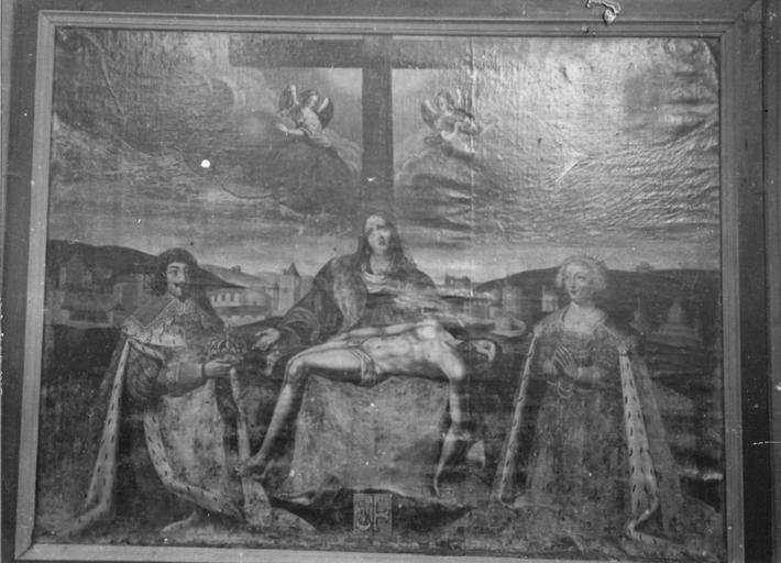Tableau : le voeu de Louis XIII, huile sur toile