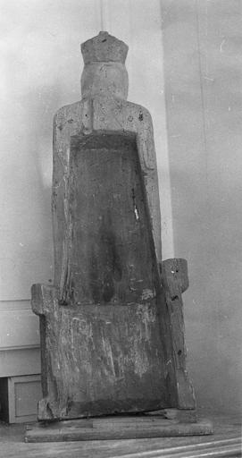 Statue : Vierge à l'Enfant, revers