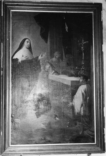Tableau : L'Extase de sainte Angèle Merici pendant le sacrifice de la messe