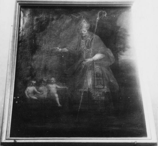Tableau : saint Nicolas, huile sur toile