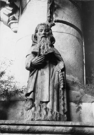 Tableau : saint Antoine ermite, bois polychrome