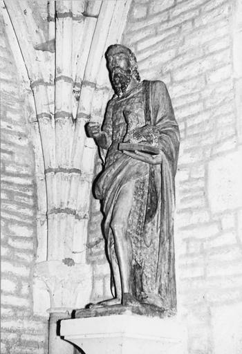 Statue : saint Jean-Baptiste, pierre, 16e siècle