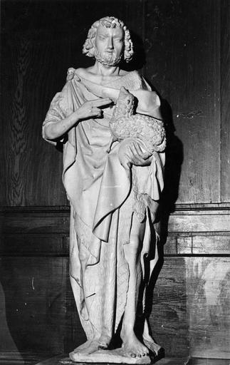 statue : saint Jean-Baptiste, pierre, fin 15e siècle