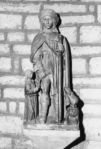 Statue : saint Roch, pierre