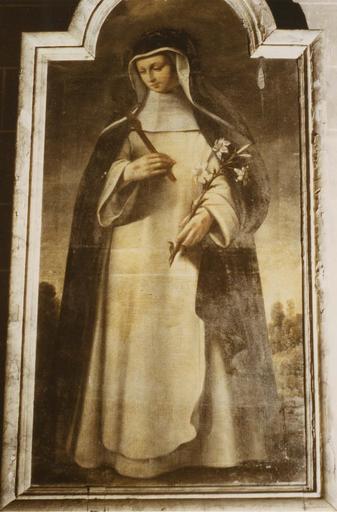 Tableau : sainte Catherine de Sienne, huile sur toile