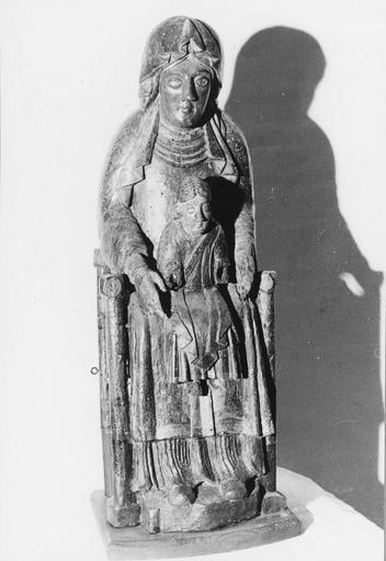 Statue : Vierge à l'Enfant dite Vierge noire, bois polychrome