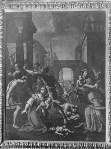 Tableau : Le Massacre des Innocents, huile sur toile, d'après Guido Reni