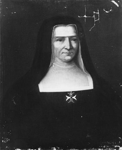 Tableau : Portrait de Mère Elisabeth Guyton, huile sur toile, 1708