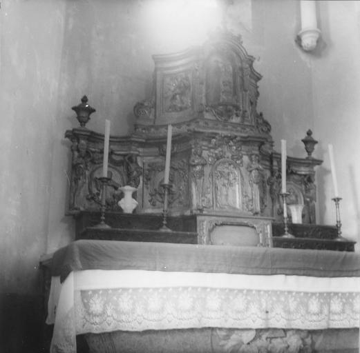 Tabernacle du maître-autel, bois sculpté et doré