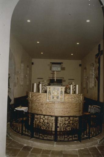 Clôture de choeur, autour du maître-autel, à la croisée du transept, fer forgé